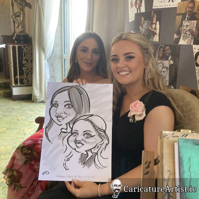 Galway Caricature Artist Wedding Reception Entertainment Gleno Abbey 3