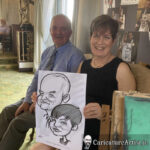 Galway Caricature Artist Wedding Reception Entertainment Gleno Abbey 8