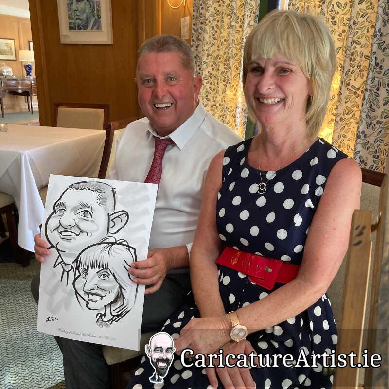 Wicklow Weddings Caricature Artist Drinks Reception 1