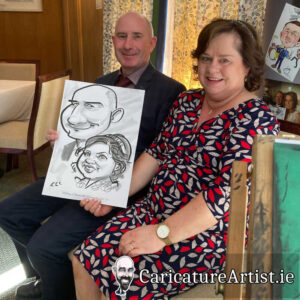 Wicklow Weddings Caricature Artist Drinks Reception 2