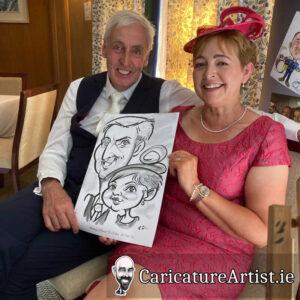 Wicklow Weddings Caricature Artist Drinks Reception 4