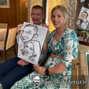 Wicklow Weddings Caricature Artist Drinks Reception 6