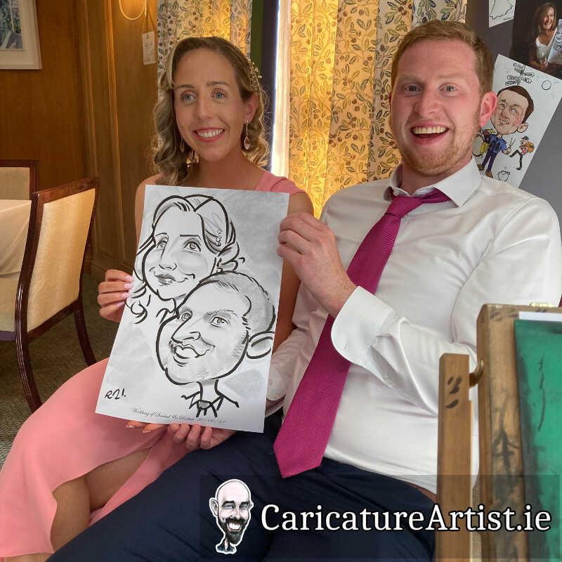 Wicklow Weddings Caricature Artist Drinks Reception 8