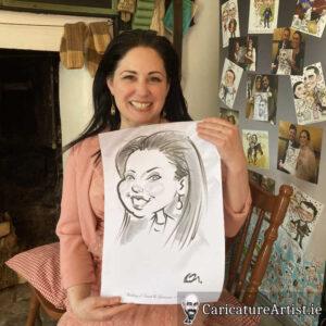 caricature artist mayo wedding reception 1