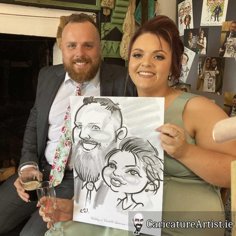 caricature artist mayo wedding reception 10