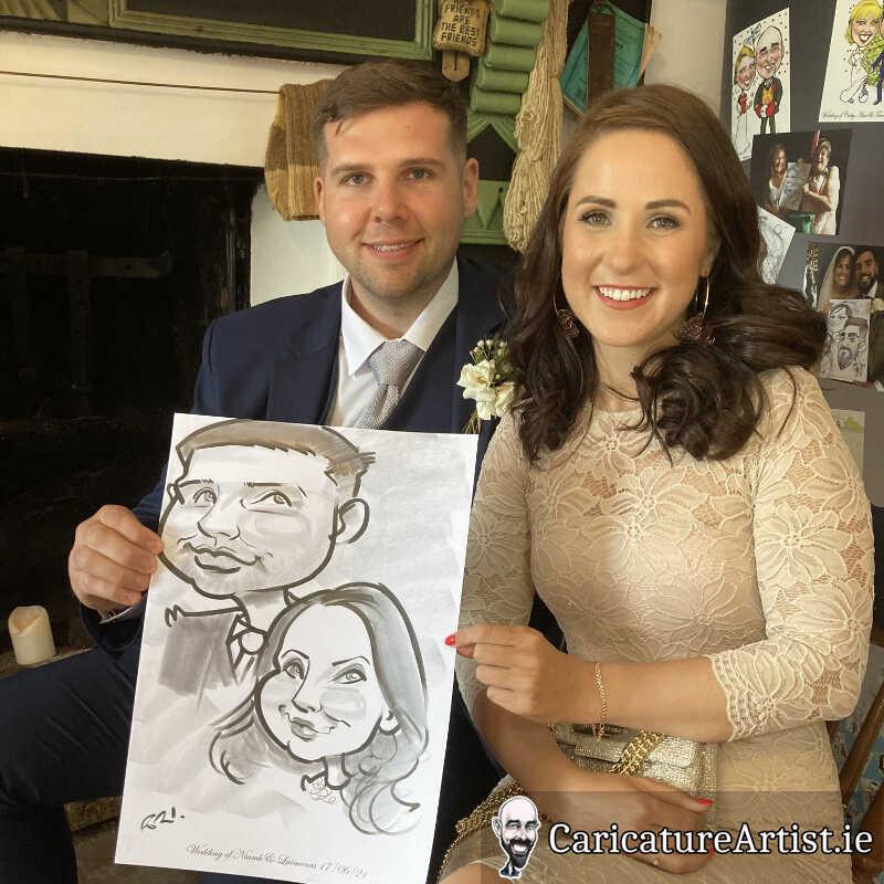 caricature artist mayo wedding reception 11