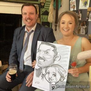 caricature artist mayo wedding reception 12