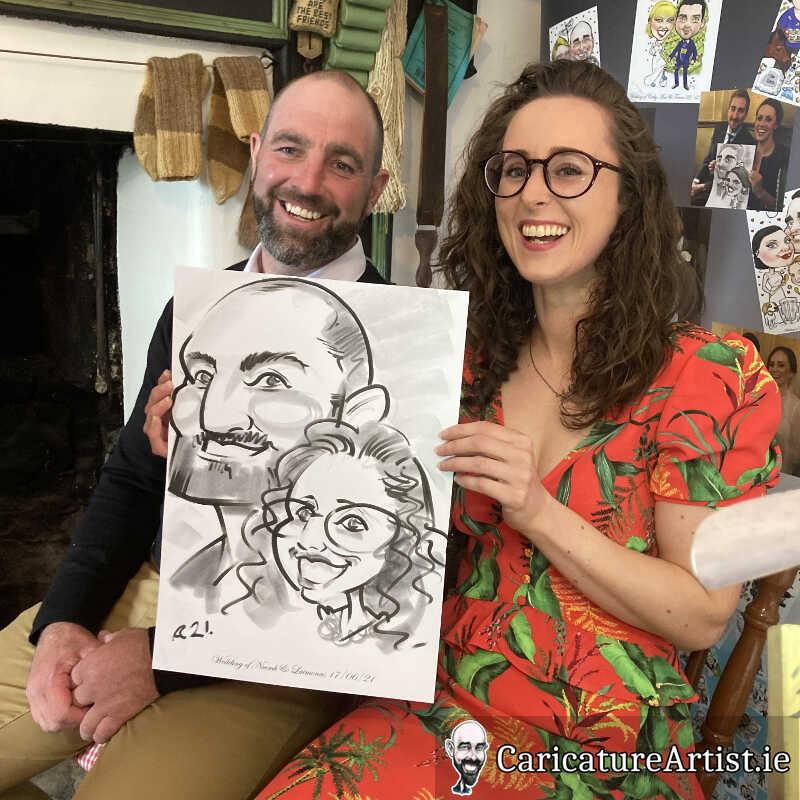 caricature artist mayo wedding reception 13