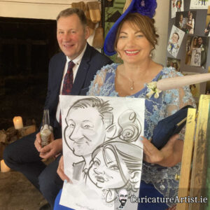 caricature artist mayo wedding reception 4