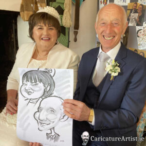 caricature artist mayo wedding reception 5