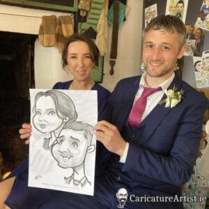 caricature artist mayo wedding reception 7