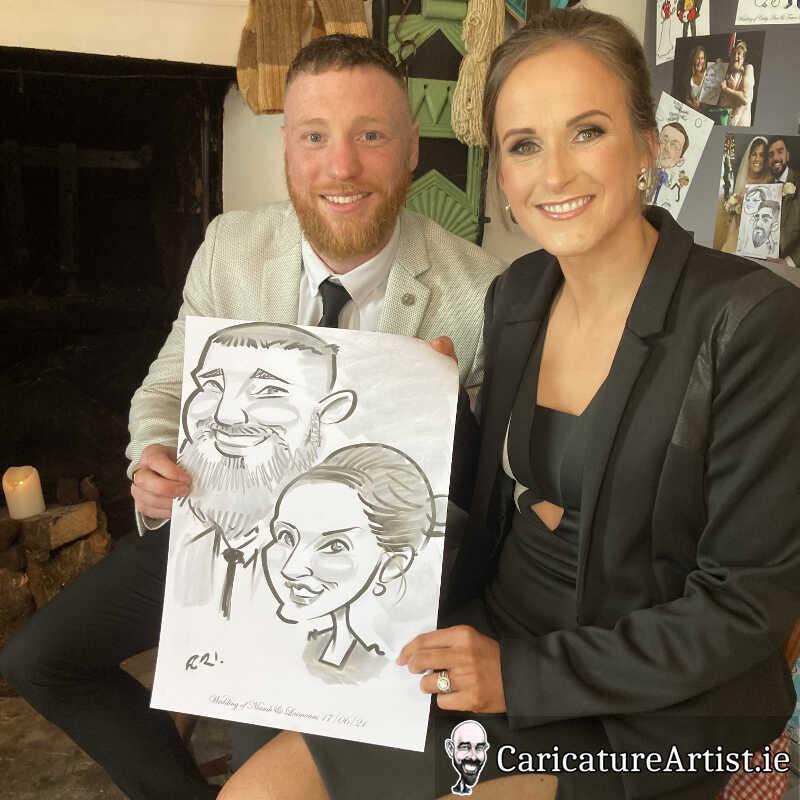 caricature artist mayo wedding reception 9