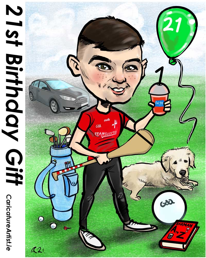 21st birthday gifts ireland caricatures from photos