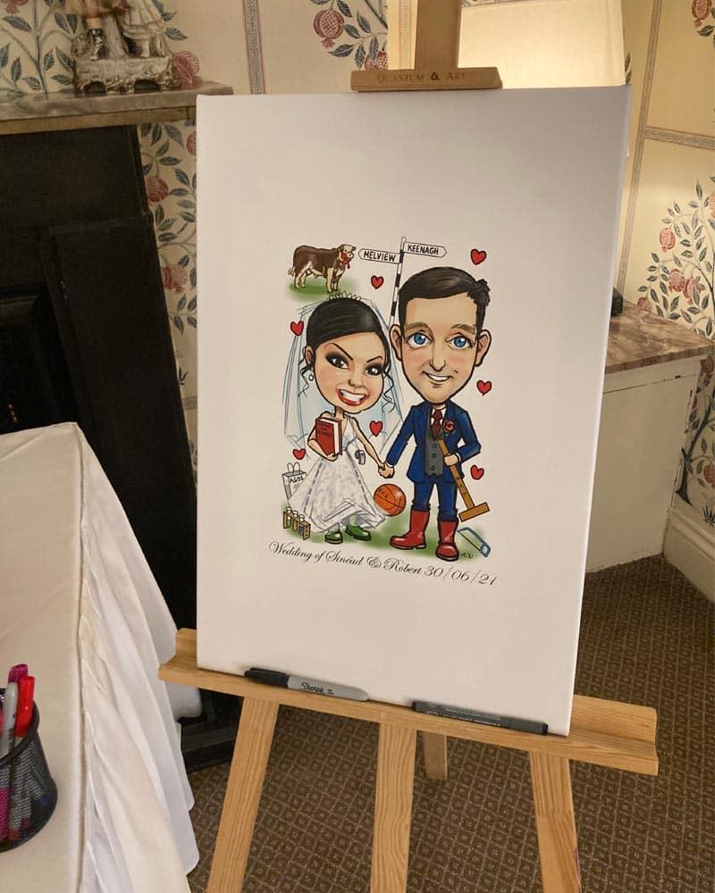 canvas wedding signing board ireland allan cavanagh 2