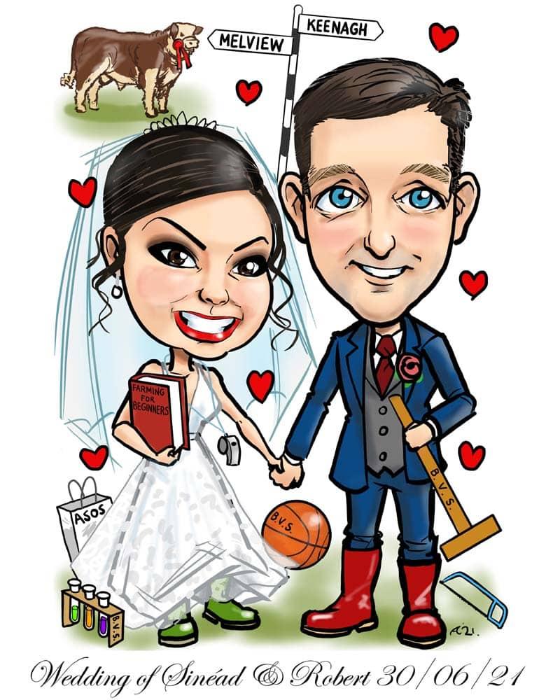 canvas wedding signing board ireland allan cavanagh