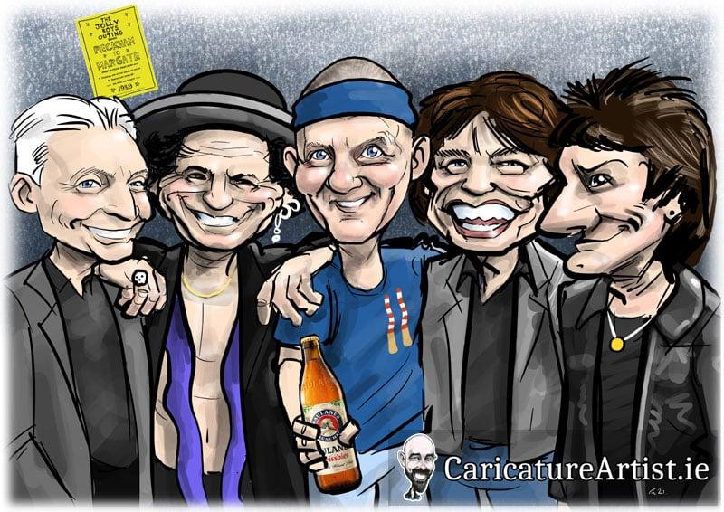 Rolling Stones Caricature Allan Cavanagh Caricatures