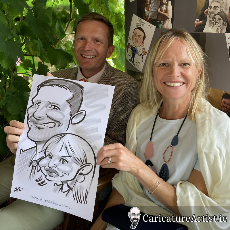 Westmeath Wedding Entertainment Live Caricatures Drinks Reception 10