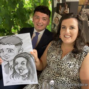 Westmeath Wedding Entertainment Live Caricatures Drinks Reception 11