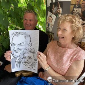 Westmeath Wedding Entertainment Live Caricatures Drinks Reception 13
