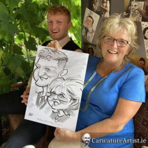 Westmeath Wedding Entertainment Live Caricatures Drinks Reception 14