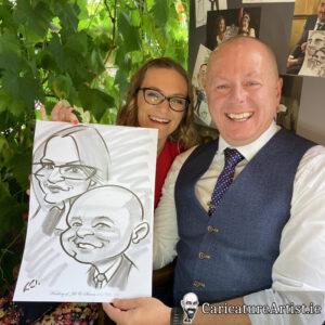 Westmeath Wedding Entertainment Live Caricatures Drinks Reception 15