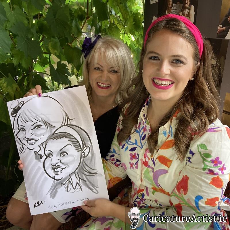Westmeath Wedding Entertainment Live Caricatures Drinks Reception 16