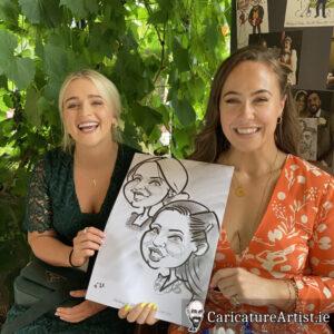 Westmeath Wedding Entertainment Live Caricatures Drinks Reception 2
