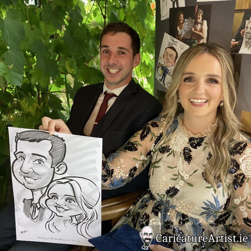 Westmeath Wedding Entertainment Live Caricatures Drinks Reception 3