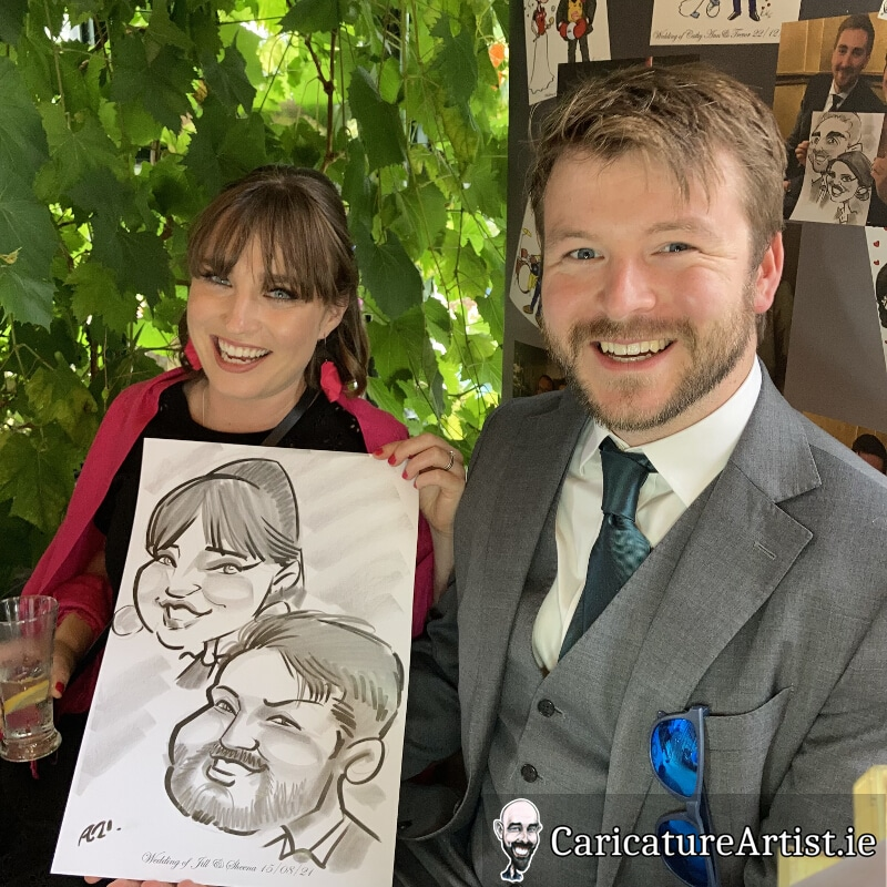 Westmeath Wedding Entertainment Live Caricatures Drinks Reception 4