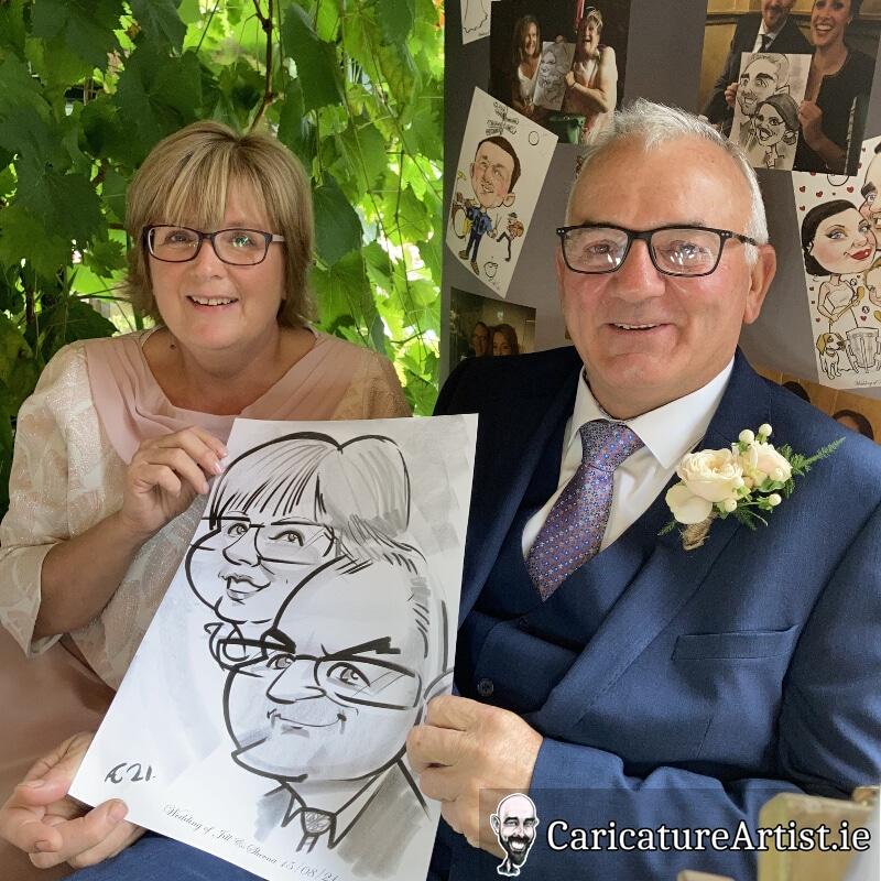 Westmeath Wedding Entertainment Live Caricatures Drinks Reception 5