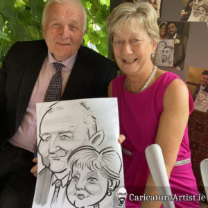 Westmeath Wedding Entertainment Live Caricatures Drinks Reception 6