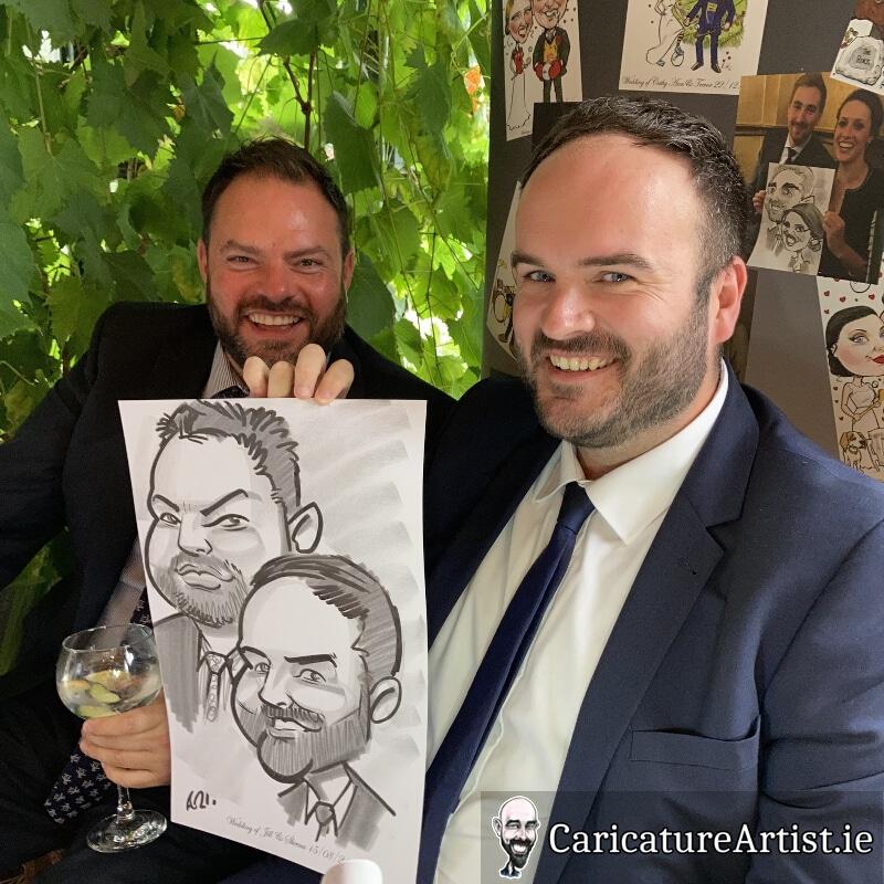 Westmeath Wedding Entertainment Live Caricatures Drinks Reception 8