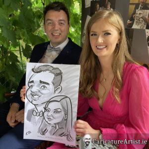 Westmeath Wedding Entertainment Live Caricatures Drinks Reception 9