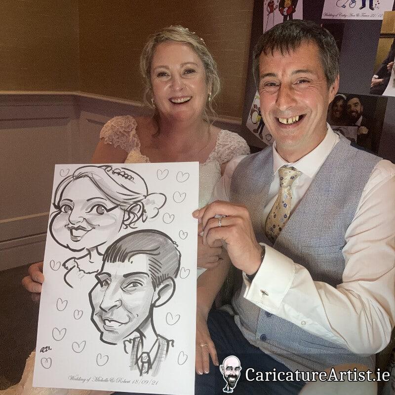 limerick wedding entertainment live caricatures allan cavanagh 1