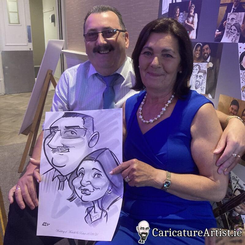 limerick wedding entertainment live caricatures allan cavanagh 8