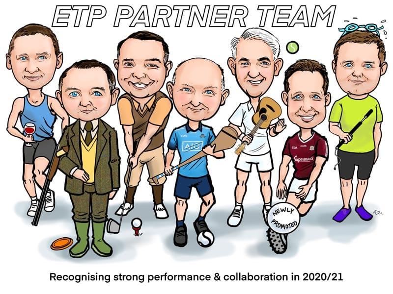 team caricature gift ireland allan cavanagh