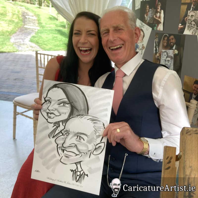 Fernhill House Hotel Wedding Caricature Artist Cork 17